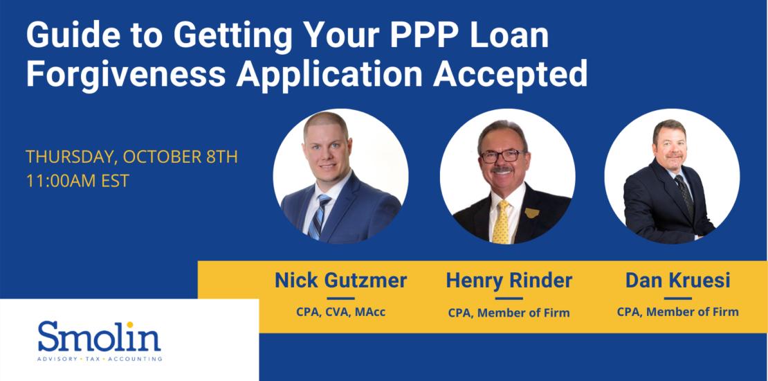 PPP loan forgiveness application guide webinar