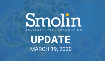 Smolin Update March 19, 2020